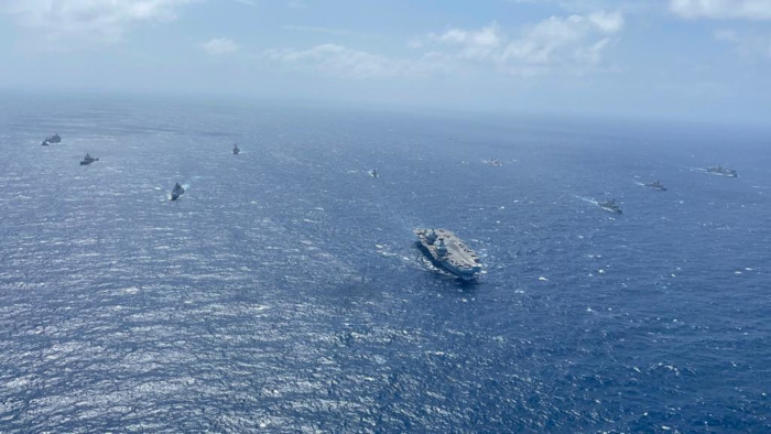 Indian Navy Exercises with Royal Navy Carrier Strike Group