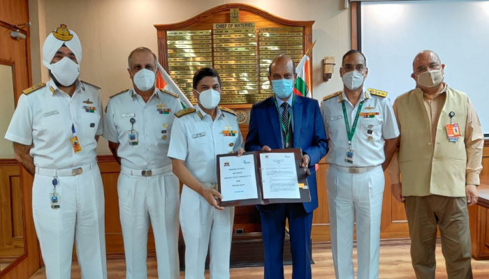 MOU Between Indian Navy and M/s BEL for Technology Incubation Forum (TIF)