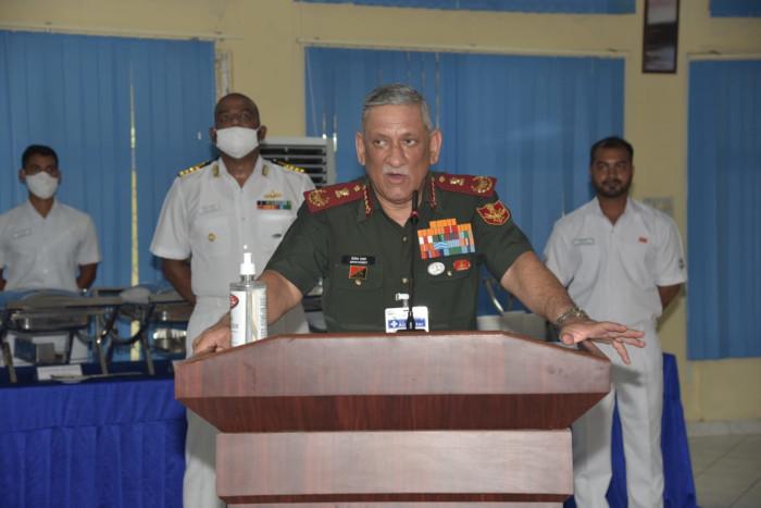 CDS Gen Bipin Rawat Visits Karwar Naval Base
