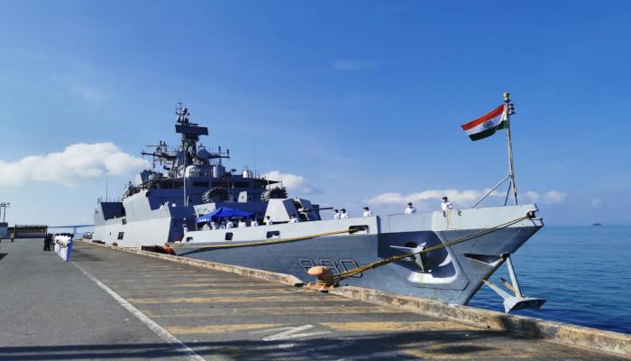Mission Sagar III - INS Kiltan Arrives at Sihanoukville, Cambodia