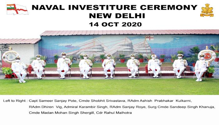 Naval Investiture Ceremony at New Delhi – 2020