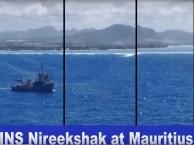Indian Naval Ship Nireekshak at Mauritius