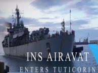 INS Airavat at Tuticorin harbour